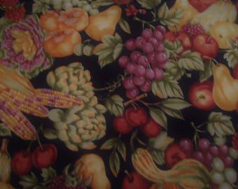 Bountiful Harvest Print R.E.D. Original Designs 100% Cotton Fabric