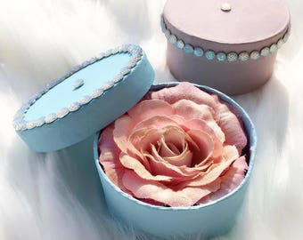 Small Rose Highlighter In Hand Crafted Box / Illuminating Powder / Bridesmaids Gift / Wedding Gift / Mothers Day Gift