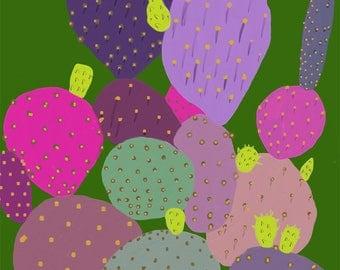 Prickly Pear Digital Oil Print