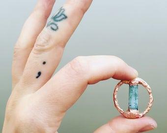 Aquamarine Copper circle