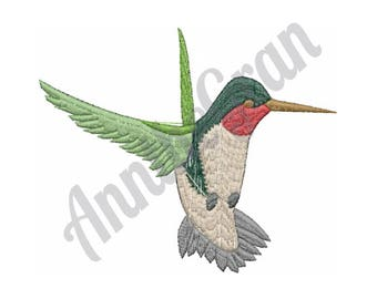 Flying Hummingbird - Machine Embroidery Design