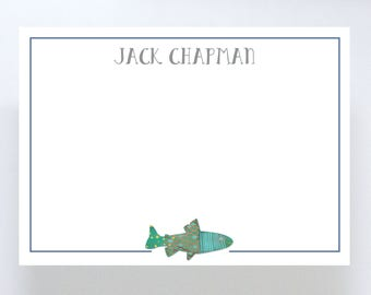 Watercolor Fish Stationary // Notecard // Thank You Note