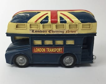 Iconic London bus old Routemaster money box