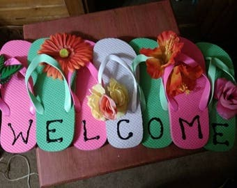 Flipflop Welcome Sign