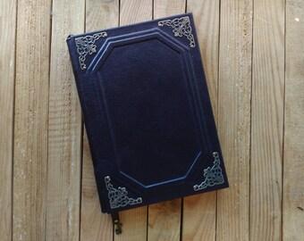 Classic leather notebook . Handmade