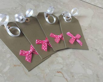 Gift tags, handmade, gift tag, gift wrapping, tags, gift, bow, handmade tags, kraft tags, thank you tags, handmade labels, favor tags