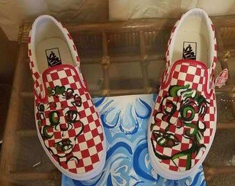 Custom Hand Painted Vans Sneakers