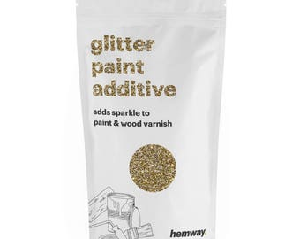 Hemway Glitter Paint Crystals Additive 100g for Emulsion - Gold Silver Mix