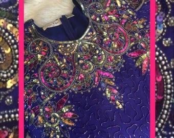 vibrant vtg dress//beautiful colors