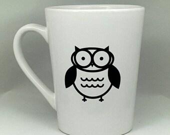 Owl Mug | Vinyl Mug | 14 Oz Mug | Owl