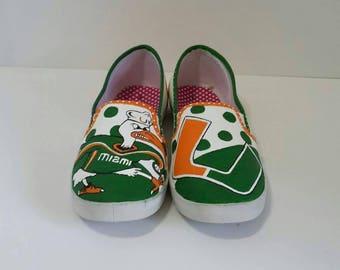 Mens Miami Hurricane slip on shoes