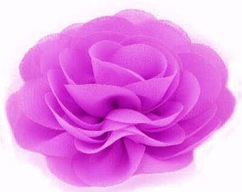 2 Lilac Purple Rose Flower Baby Girl Hair Clips 1 Pair