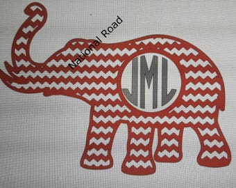 Monogramed Elephant with T-shirt