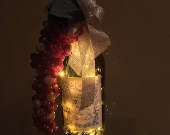 Cupcake Wine Bottle Lights