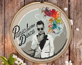 Panic! at the Disco Cross Stitch Pattern for Instant Download - 049| Easy Cross Stitch| Counted Cross Stitch| Embroidery Design