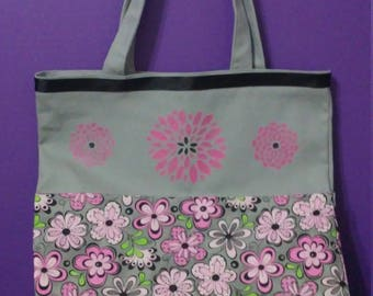 Pink and Grey Tote