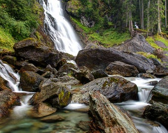 Fine Art or Canvas Print - Sintersbacher Waterfalls, Austria