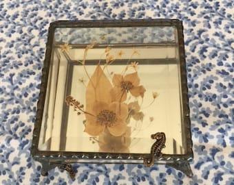 Vintage Glass Jewellery /Trinket Box