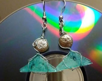 Upcycled Earrings made from Recycled CDs