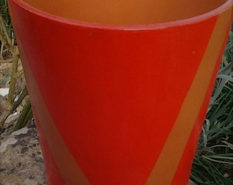 POTS terracotta transformed into hand painted planter