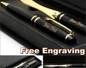 Free Engraving - Ballpoint Pen, Personalized Pen, Engraved pen, Custom Engraved Pen, Refillable Pen, Refill pen, Gold Blade Letter Opener