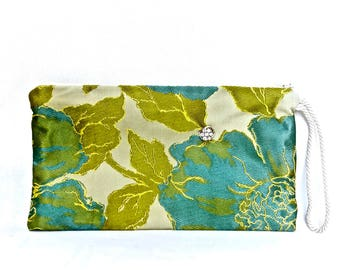 BUTTERFLY LADY Clutch - Blue/Green