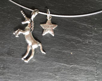 Unicorn wish wire choker