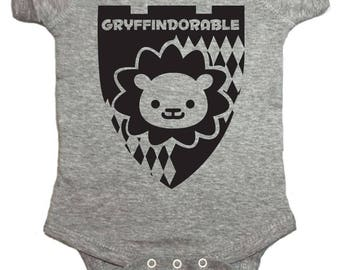 Gryffindorable Baby One Piece by Brain Juice Tees