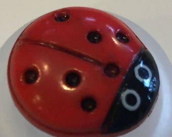 Bigger Ladybug Button