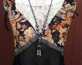 70s Vintage Indian India Cotton Gypsy Gauze Festival Hippie Mini Dress Or Long Top