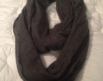 Forest Green Knitted Infinity Scarf