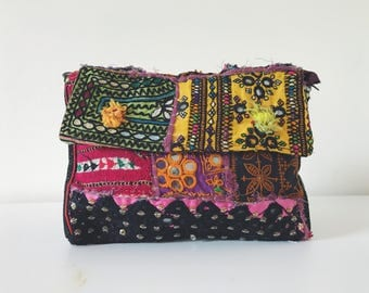 Banjara Tribal Clutch Bag, Vintage Fabric
