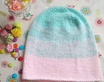 Hat for the child. Stylish color. Beanie cap. Original design.