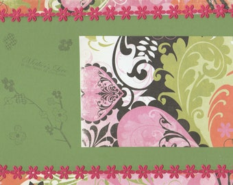8x10 Mother's Love Scrapbook Page - Great for framing and gifting!
