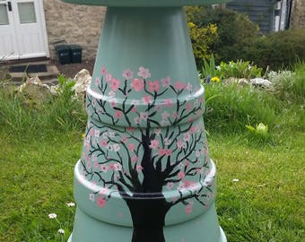 Cherry Blossom Bird Bath