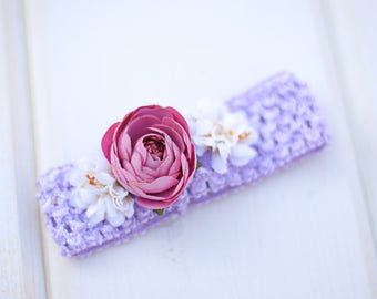 girl headband, flower girl headband, lace headband - baby headband,  flower headband, baby headband