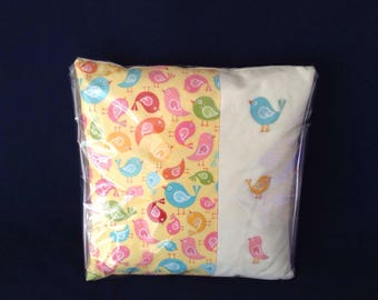 "Multi colour birds cushion 12""x12"""