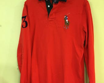"""Vintage 90s """"3"""" Polo Long Sleeve by Ralph  Lauren"""