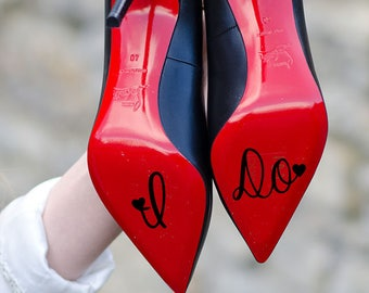 I Do Wedding Decal, I Do Wedding Shoe Sticker With Hearts, Wedding Decals, Wedding Shoe Stickers, Wedding Decor, Wedding Gifts, Wedding Idea
