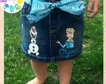 Frozen Elsa Olaf Jeans
