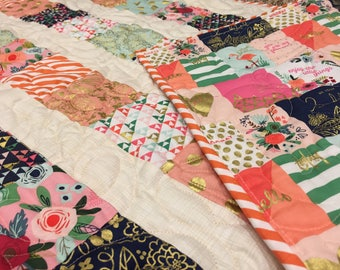 Gorgeous HANDMADE Baby Girl Quilt