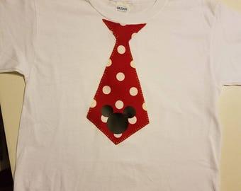 Tie applique shirt, family matching shirts, 1st birthday boy shirts