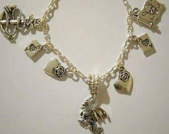 Goth Love Charm Bracelet