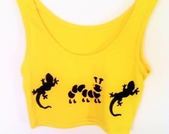 Tank Tops for women/Amarillo. S/M Yellow  tshirts