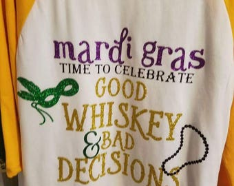 Mardi Gras theme shirts