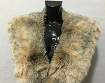Real Natural Beige Cat Lynx Fur Collar