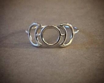 Triple Goddess Ring - Sterling Silver