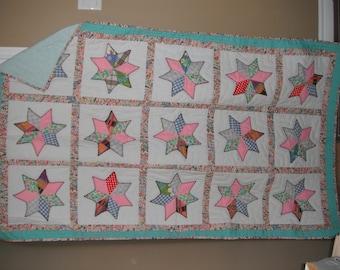 Twin Star Design Quilt