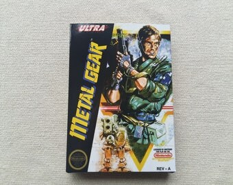 NES Metal Gear Replacement Box Universal Video Game Case High Quality