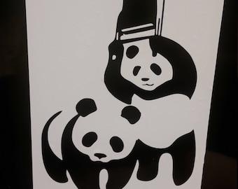 WWF funny panda decal
